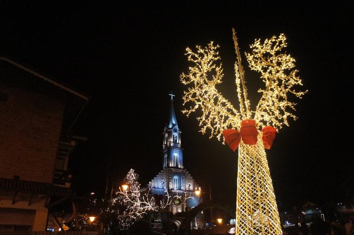Luci natalizie a Gramado