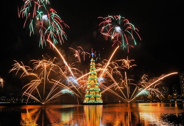 Fuochi d'artificio a Rio de Janeiro