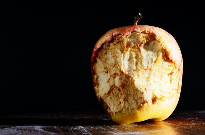 mele diventano scure