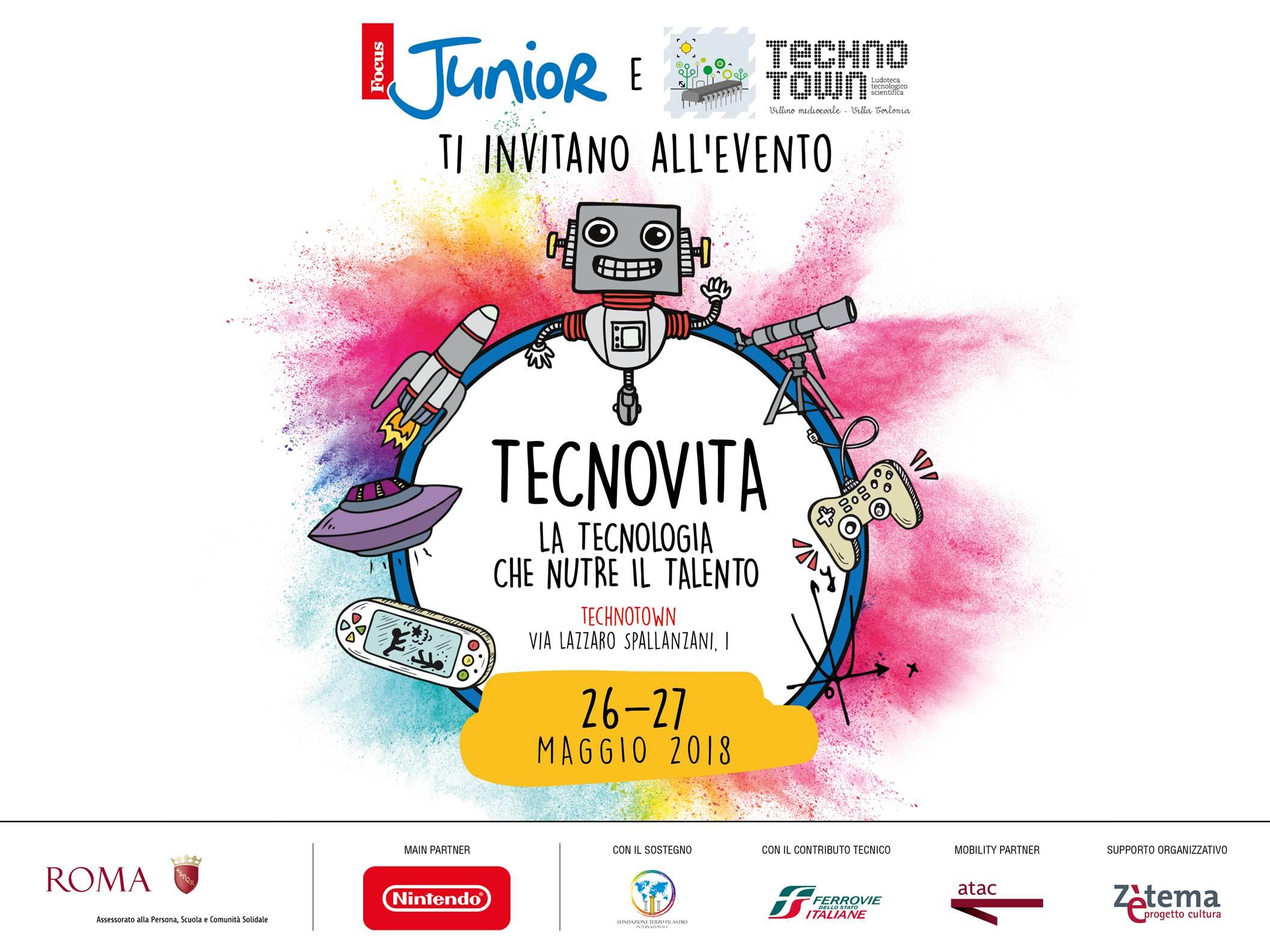 """""""Tecnovita"""". L'evento di FocusJunior e Technotown dedicato alla tecnologia"""