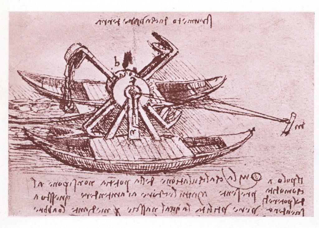 Leonardo da Vinci, progetto tecnico per imbarcazione per fiumi.