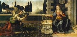 Leonardo da Vinci, L'annunciazione.