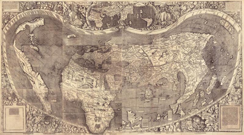 Cartina Del Mondo Nel 1800.La Mappa Di Waldseemuller Per La Prima Volta Compare L America Focus Junior
