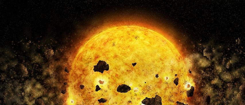 Una giovane stella sta divorando due pianeti!