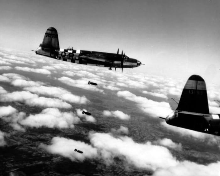 Le bombe della Seconda Guerra Mondiale hanno provocato danni anche all'atmosfera