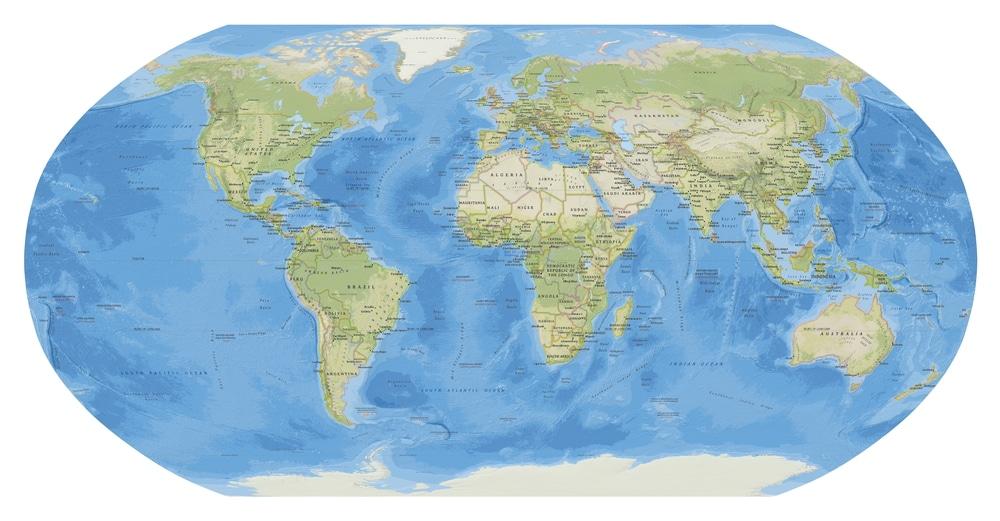 """""""Equal Earth"""": creata una mappa dei continenti ancora più accurata"""