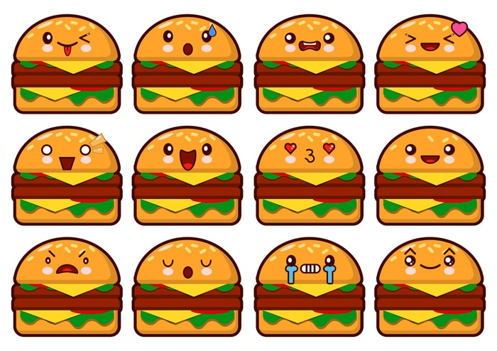 Hamburger kawaii