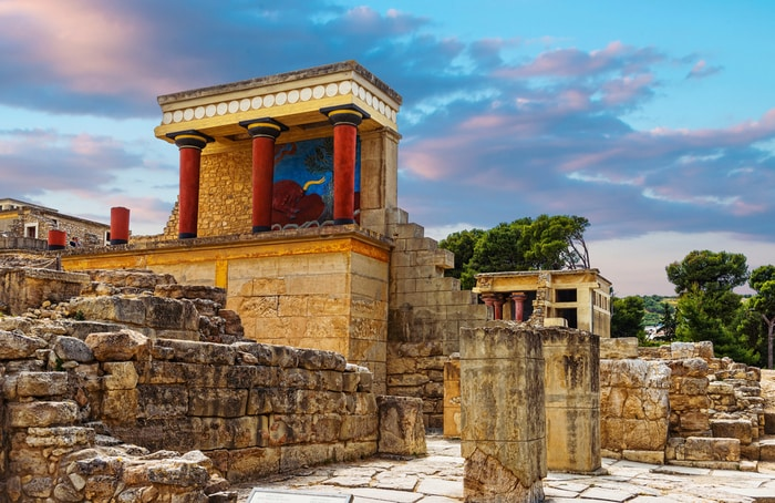 Le rovine del palazzo di Cnosso