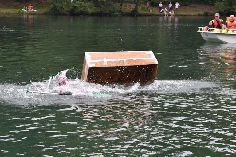 Soap kayak Race