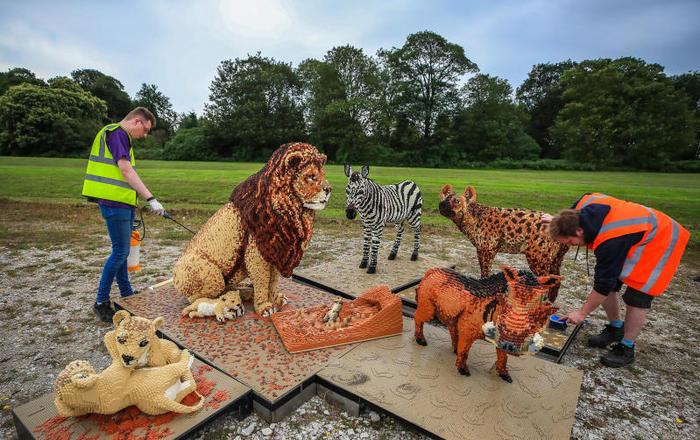 Safari di Lego: in Inghilterra gli animali sono fatti…Di mattoncini