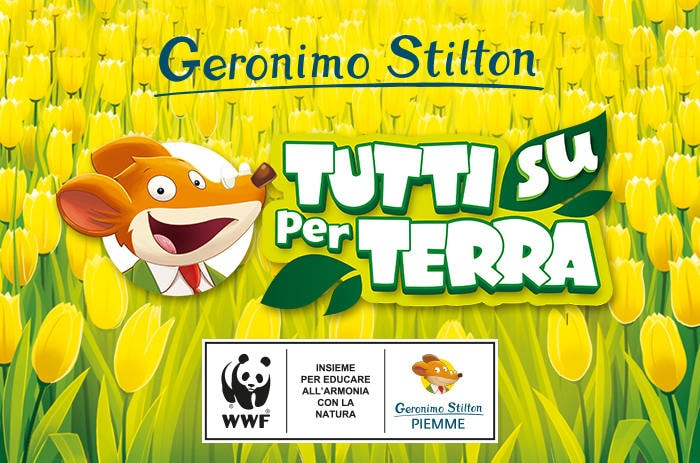 """""""Tutti su per Terra"""" con Geronimo Stilton e WWF: insieme per salvare il pianeta!"""
