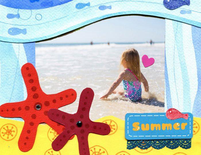 Lo scrapbook delle vacanze per conservare i ricordi dell'estate!