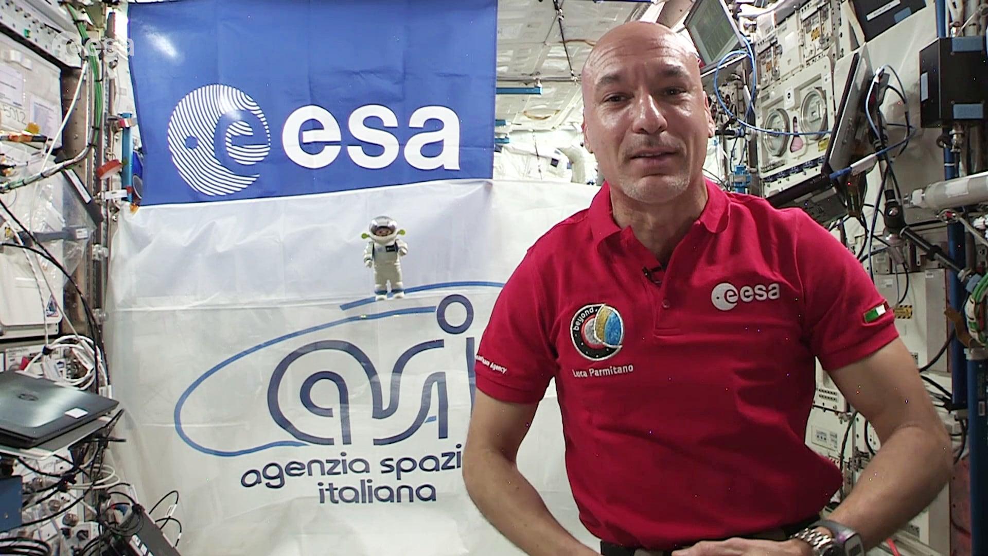 Il messaggio di Luca Parmitano dallo spazio