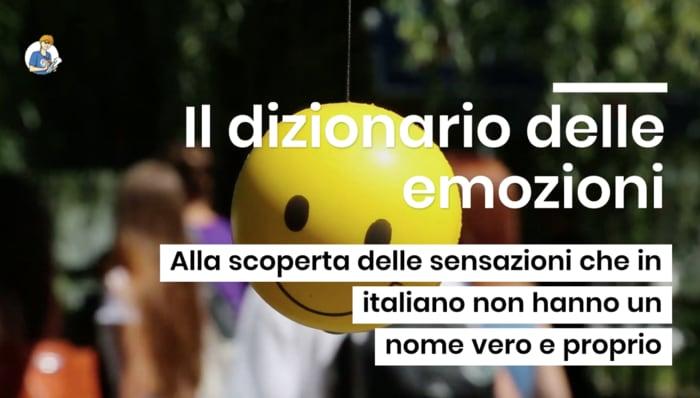 Il dizionario delle emozioni (VIDEO)