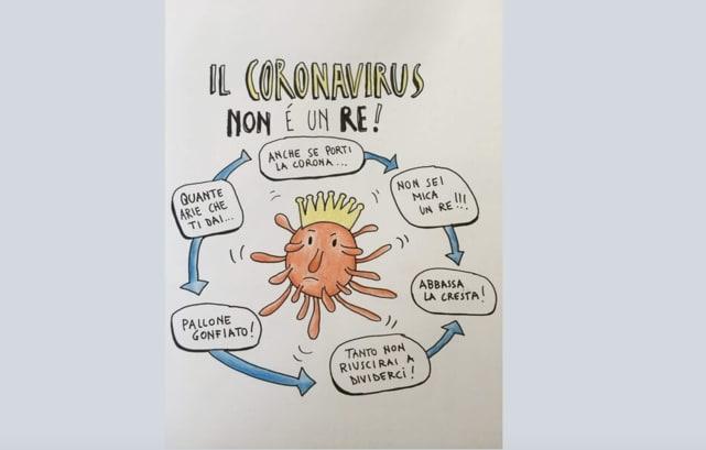 Il coronavirus non è un re. Il virus spiegato in una filastrocca