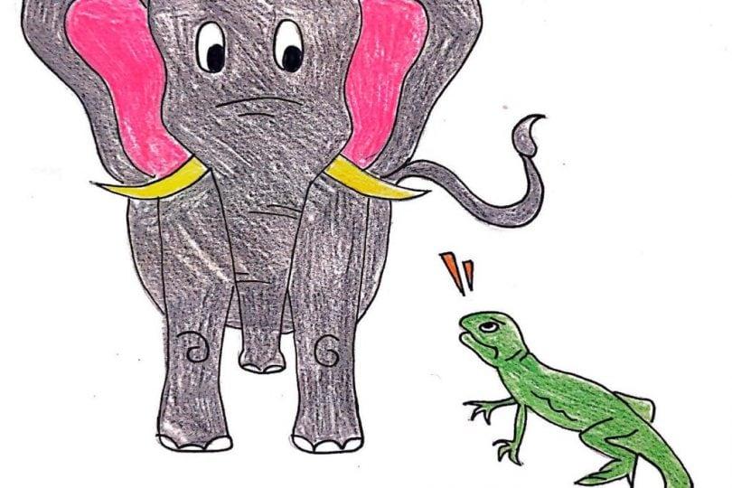 Junior reporter news: L'elefante e la lucertola