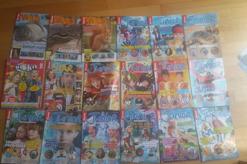 Guarda quanti giornalini! Gallery di copertine e di fedeli lettori di Focus Junior