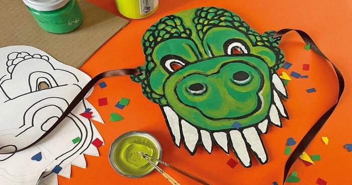 FJ Lab di Carnevale: la maschera da dinosauro (VIDEO)
