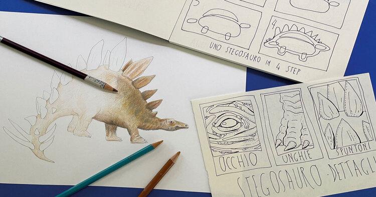 FJ Lab artistico: disegniamo uno stegosauro (VIDEO)