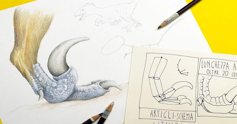 FJ Lab artistico: disegniamo un artiglio di Utahraptor (VIDEO)