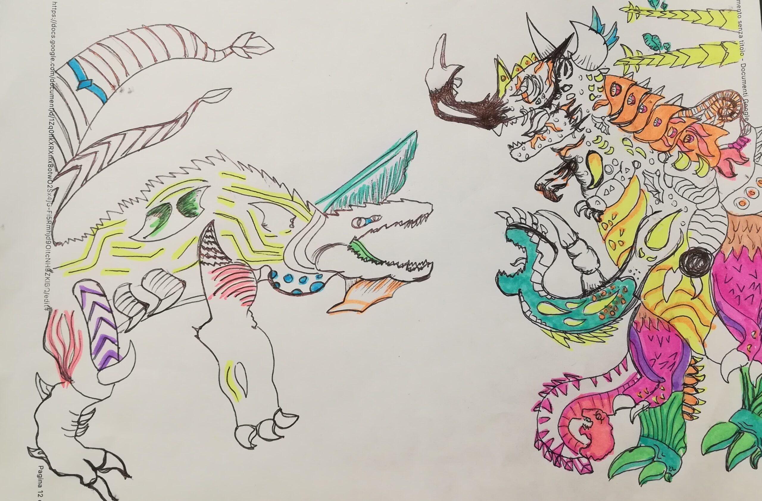 Gallery, creature fantastiche nei disegni dei focusini