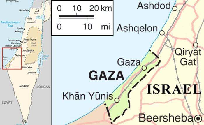 Che cos'è e dov'è la Striscia di Gaza?