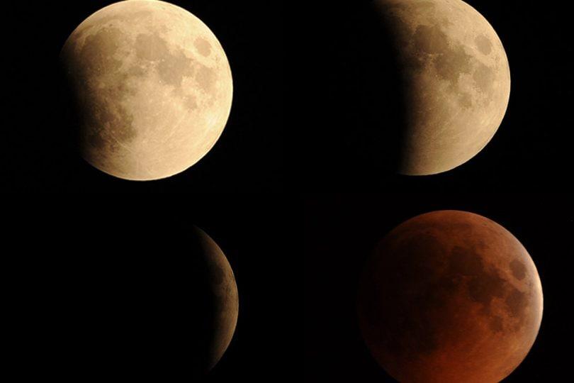 Eclisse di luna: ecco la luna rossa!
