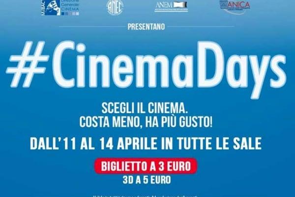 Tutti ai CinemaDays di primavera | Al cinema con lo sconto!