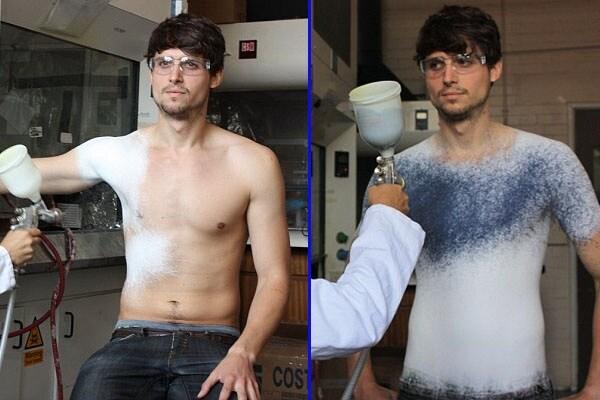 Maglietta spray: come disegnata… addosso!