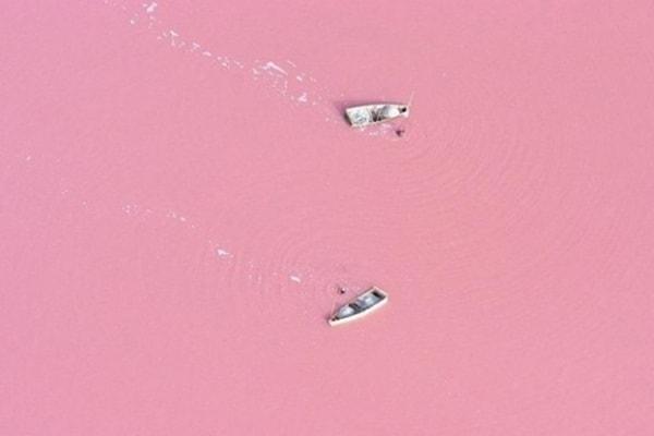 Il lago rosa