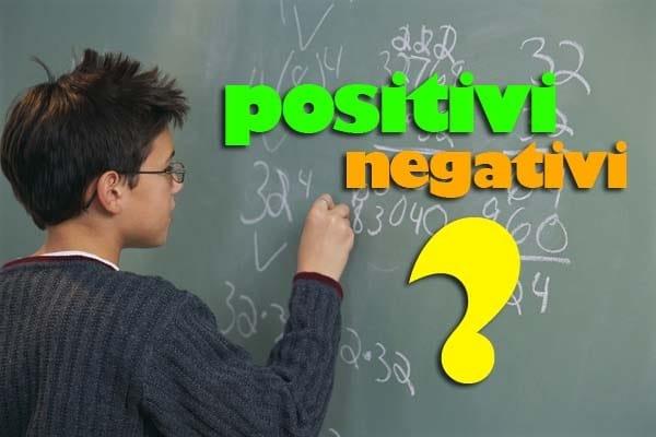 Numeri interi negativi e positivi, come si sommano?