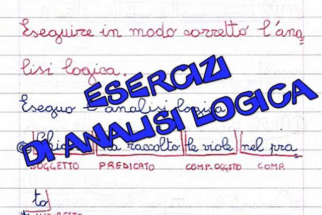 Analisi logica | Esercizi e schede online