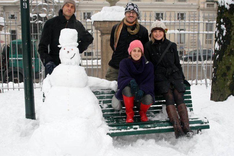 Giocare con la neve!