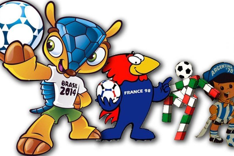 Tutte le mascotte dei Mondiali di Calcio. Qual è la tua preferita?