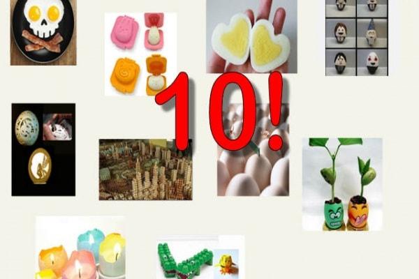 10 cose divertenti e creative da fare con le uova :)