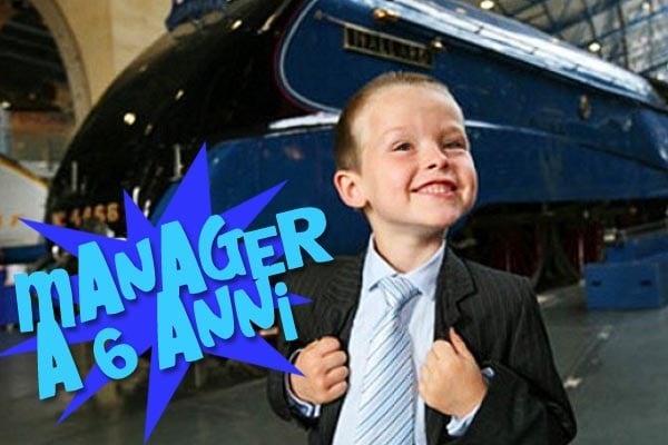 Piccoli geni: manager a sei anni per amore dei treni