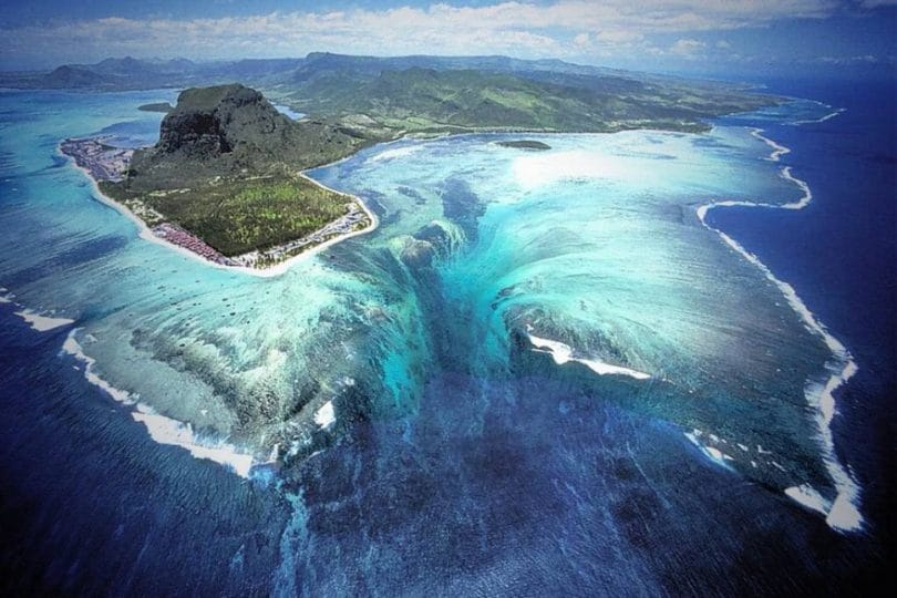 La cascata sottomarina a Mauritius
