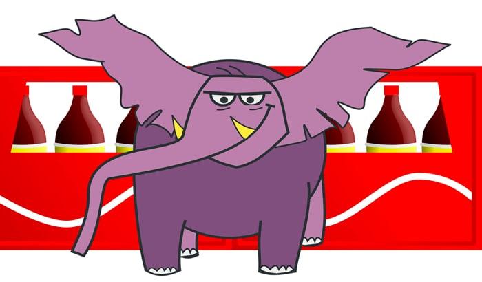 Elefante e Coca-Cola