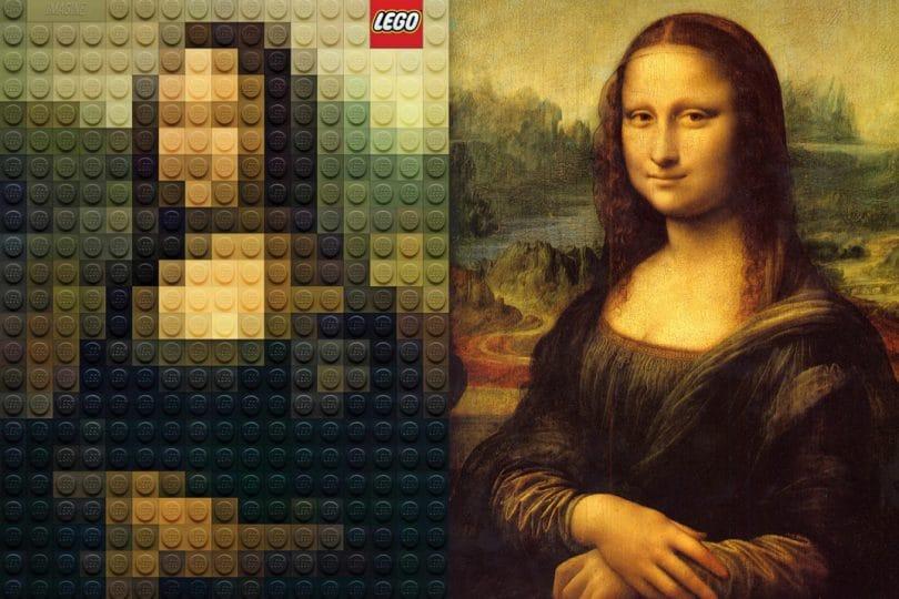 La Monnalisa ed altri quadri famosi in versione Lego