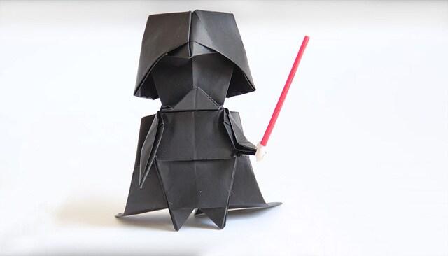 L'origami di Darth Vader: il lato oscuro dei lavoretti!