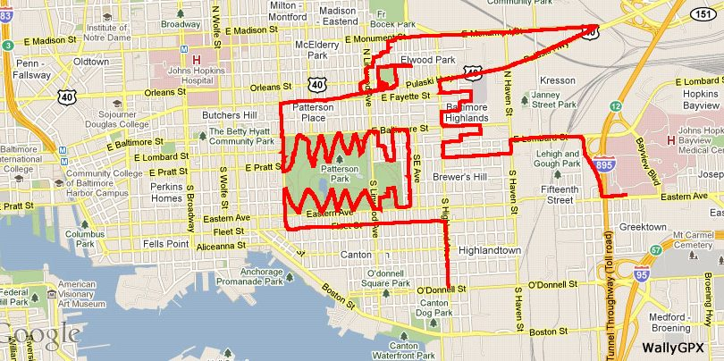 Disegnare con il GPS e una bicicletta