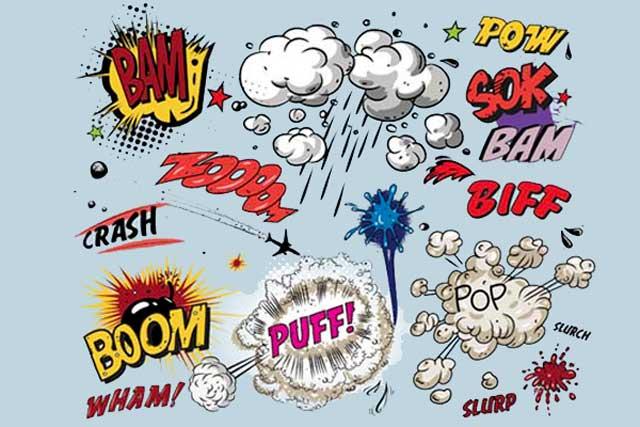 La lingua dei fumetti: Bang, splash, crash e le altre onomatopee