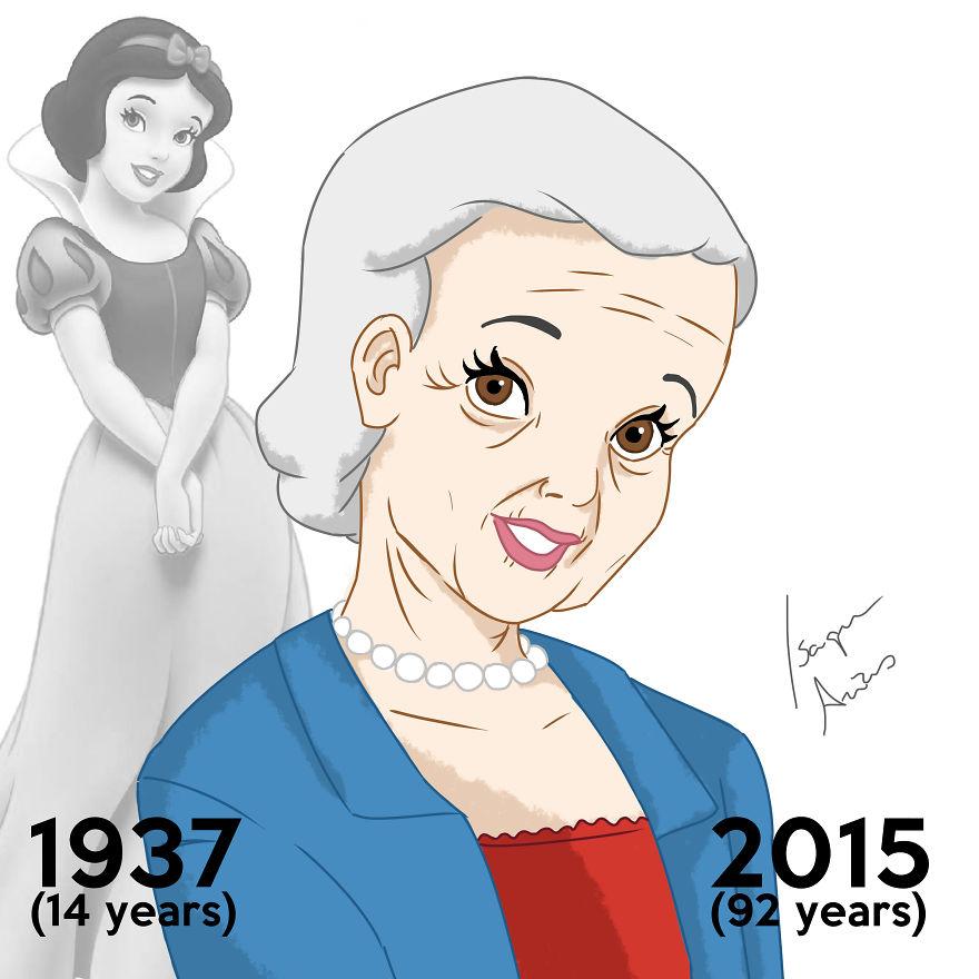 Le Principesse Disney Disegnate Con L Età Che Avrebbero Oggi