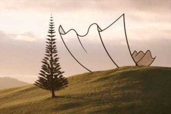 Illusioni ottiche: Horizon di Neil Dawson, l'installazione sulle colline!
