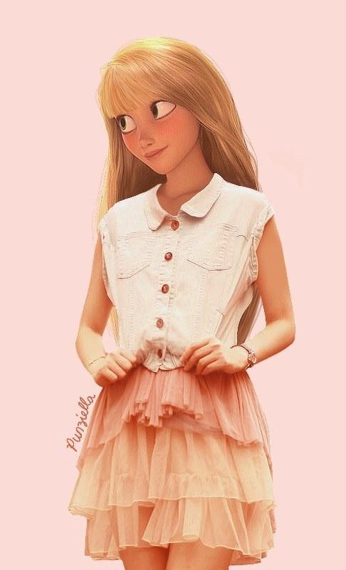 newest fabb1 2eeef I protagonisti Disney vestiti alla moda. L'idea di una ...