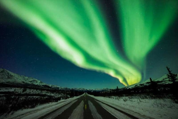 L'aurora boreale vista dallo spazio