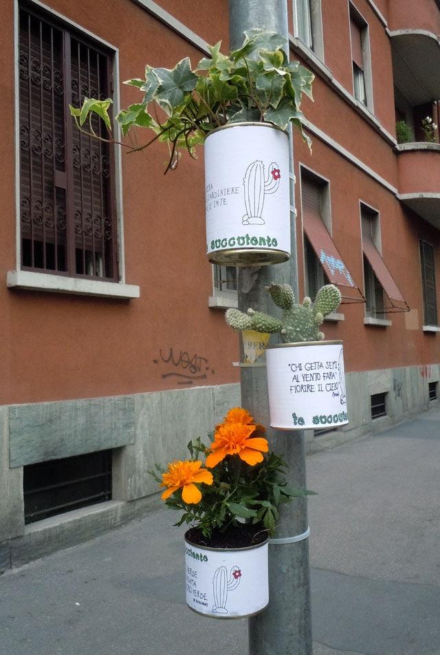 Guerrilla gardening: crea dei vasetti di piante da lasciare in strada