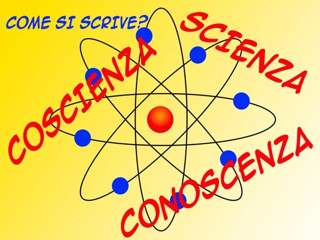 Italiano: Scienza, coscienza e conoscenza. Quando si scrive -sce e quando si scrive -scie