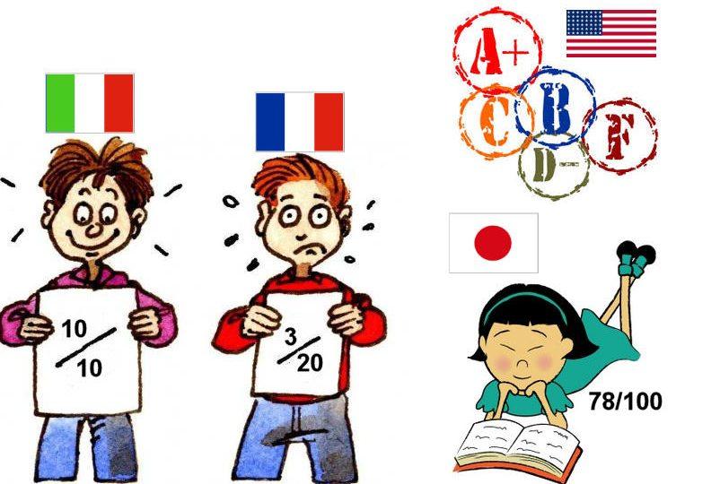 Perché in Italia i voti a scuola vanno da 1 a 10, in Giappone 1 a 100, in Francia 1 a 20?