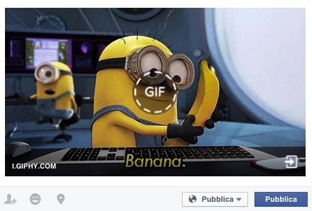 Facebook introduce le gif animate. Come mettere le gif sul proprio profilo